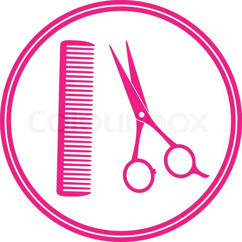 round icon of hair