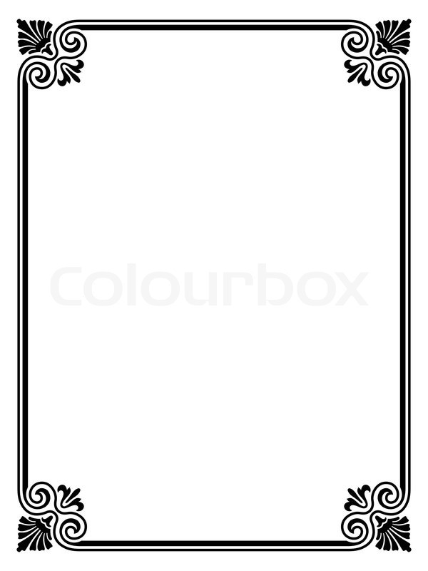 Vector simple black calligraph ornamental decorative frame