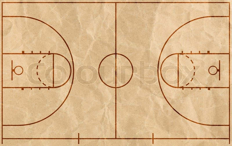 Basketball Court Stock Photo Colourbox