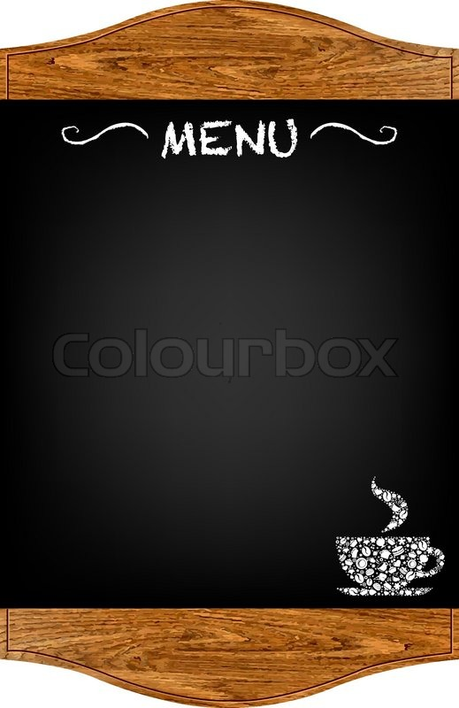 Restaurant Menu Board With Gradient Mesh Isolated On Red