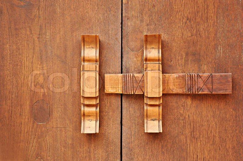 Traditionelle ThaiStil aus Holz Riegel  Stockfoto
