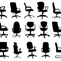 Office Chair Illustration Fixing Wicker Chairs Silhouettes Stock Photo Colourbox