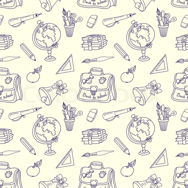 Scribble In A Writing Books Seamless Pattern Stock