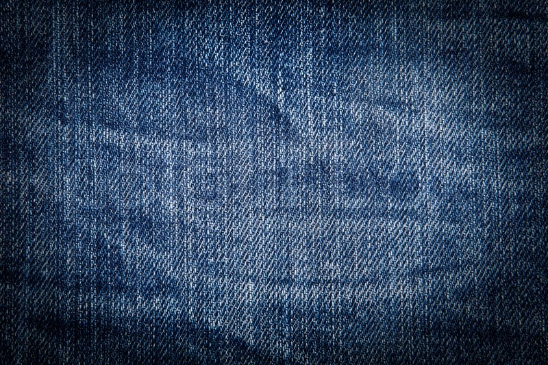 Wrinkled Old Blue Jean Background  Stock Photo  Colourbox