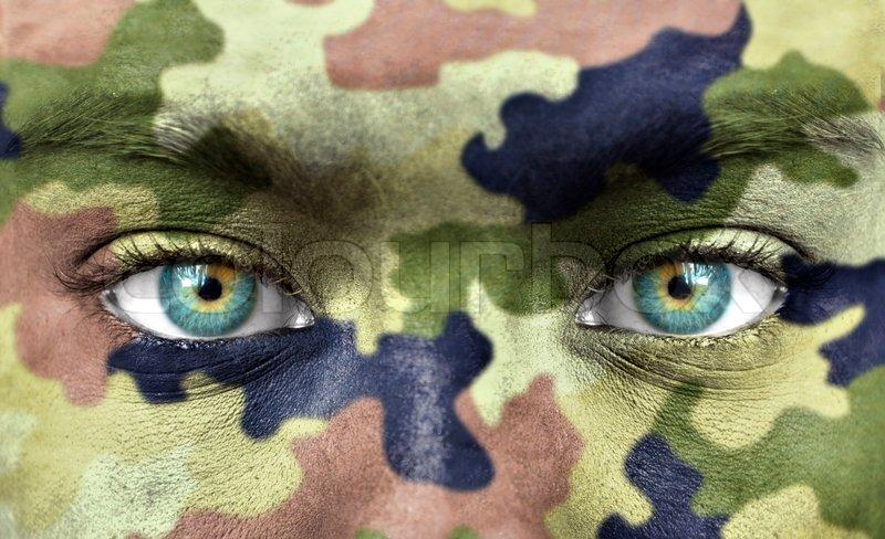 Menschliches Gesicht mit Makeup   Stockfoto  Colourbox
