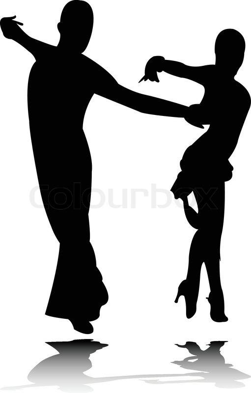 Dance silhouette 3 vector Stock Vector Colourbox