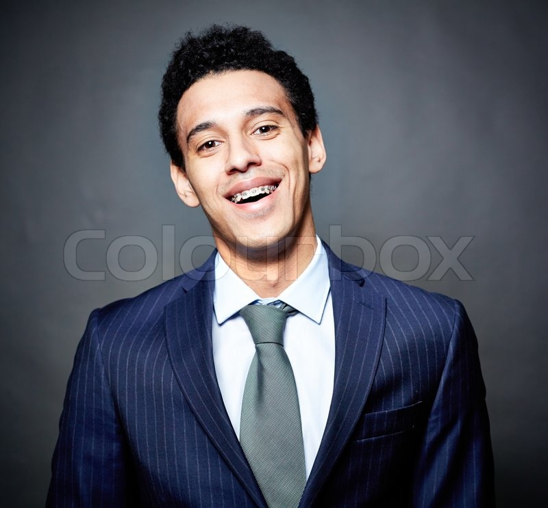 Business Guy With Braces Stock Image Colourbox