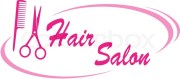 hair salon sign stock vector