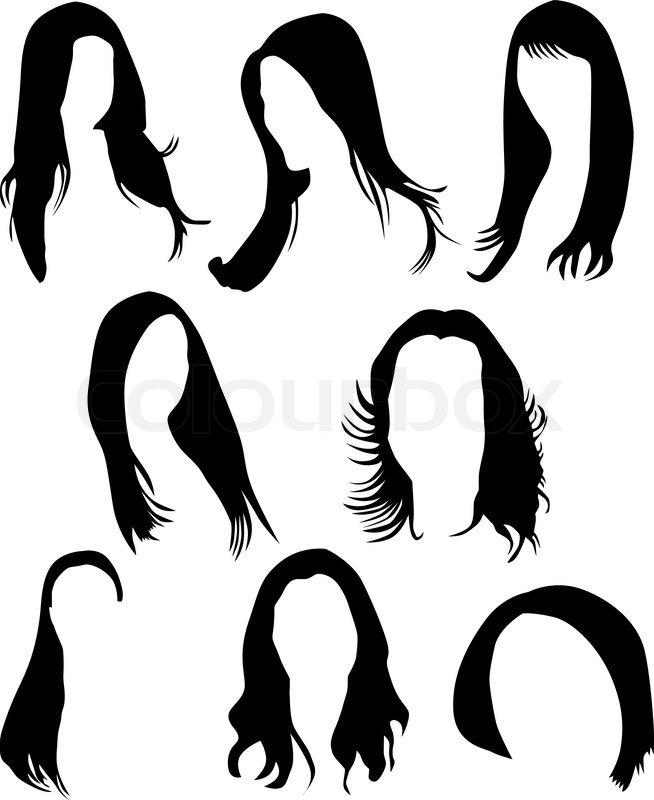 Women Hair Silhouette Vector Stock Vector Colourbox