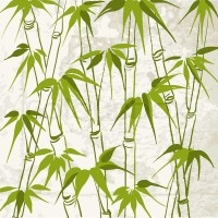 Bamboo with leaves pattern. Vector illustration. | Stock ...