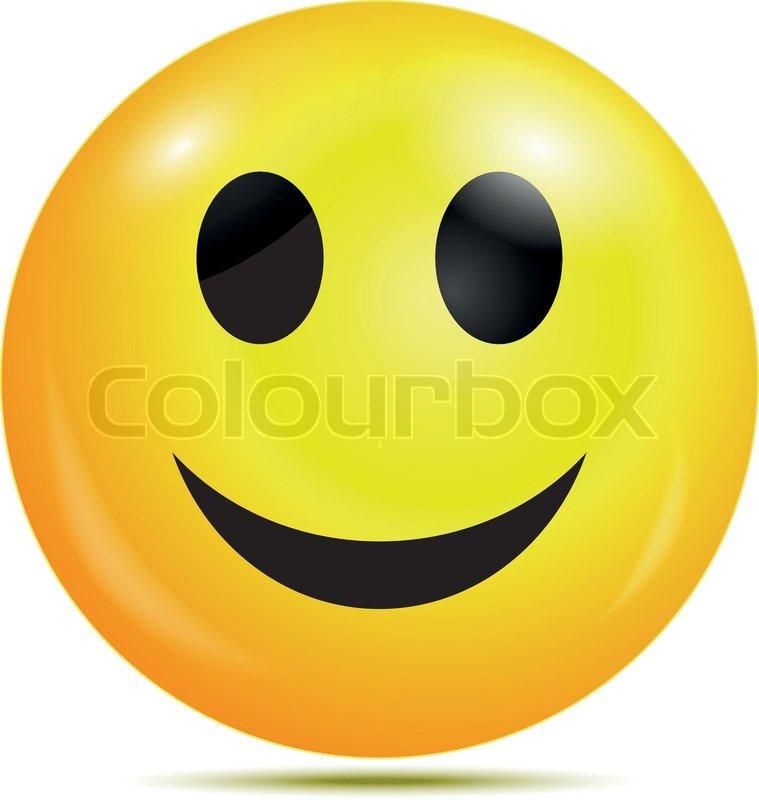 Vector illustration of Happy smiley   Stock Vector  Colourbox