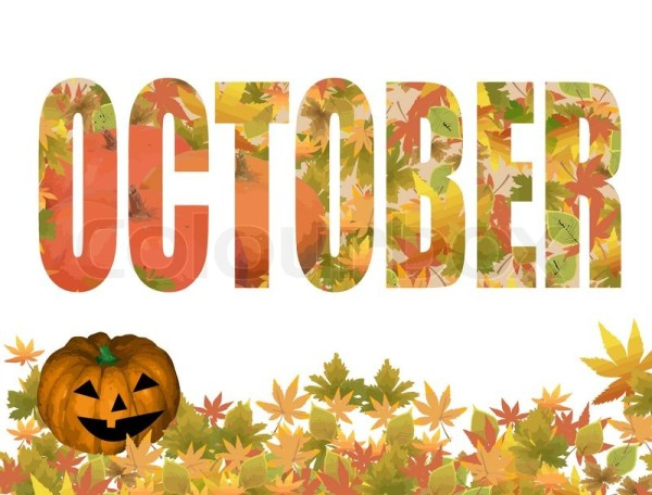 october title stock vector