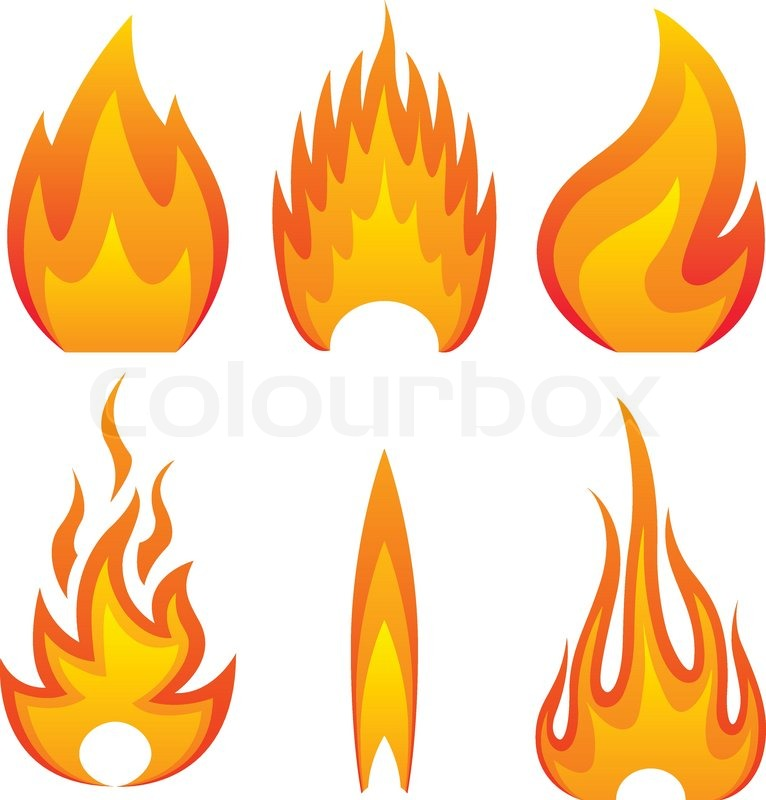 Flamme ild Stock vektor Colourbox