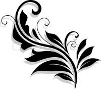 Decorative floral design element | Stock Vector | Colourbox