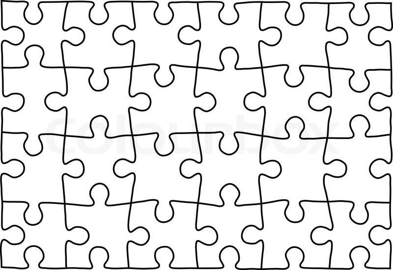 Puzzle template. Background for your business presentation