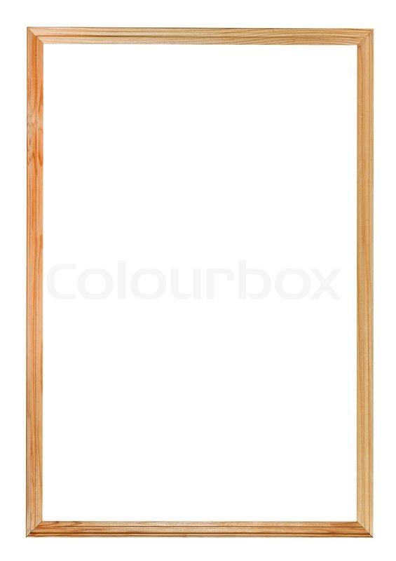 Schmale einfache Holz Bilderrahmen  Stockfoto  Colourbox