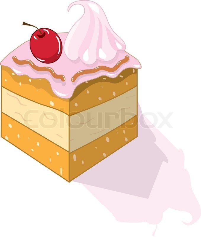 Stck Kuchen  Vektorgrafik  Colourbox