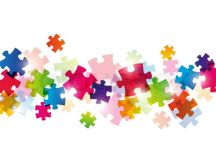 Color puzzle background for Your design   Stock Vector ...