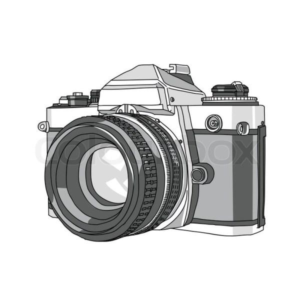 Hand Drawn Of Vector Camera Stock Colourbox