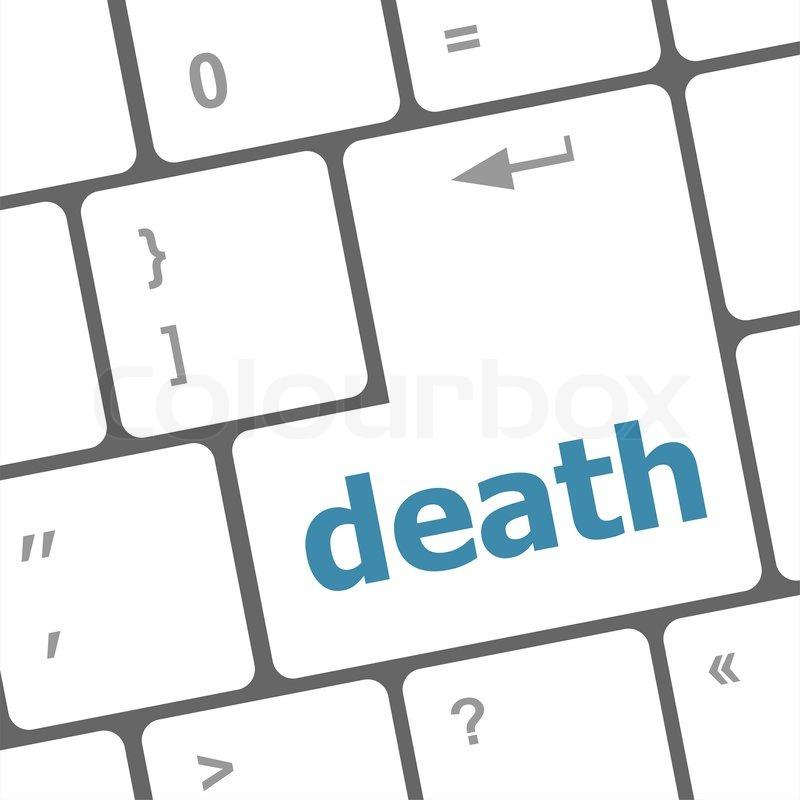 death word on keyboard