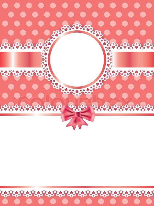 Children Pink Frame Vector Background Stock Vector