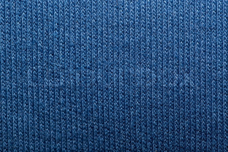 Blue Knitted Fabric Texture Abstract Stock Photo