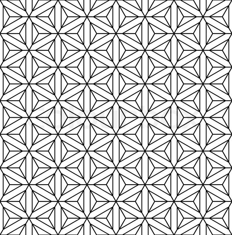 Seamless geometric op art texture. Hexagons, diamonds