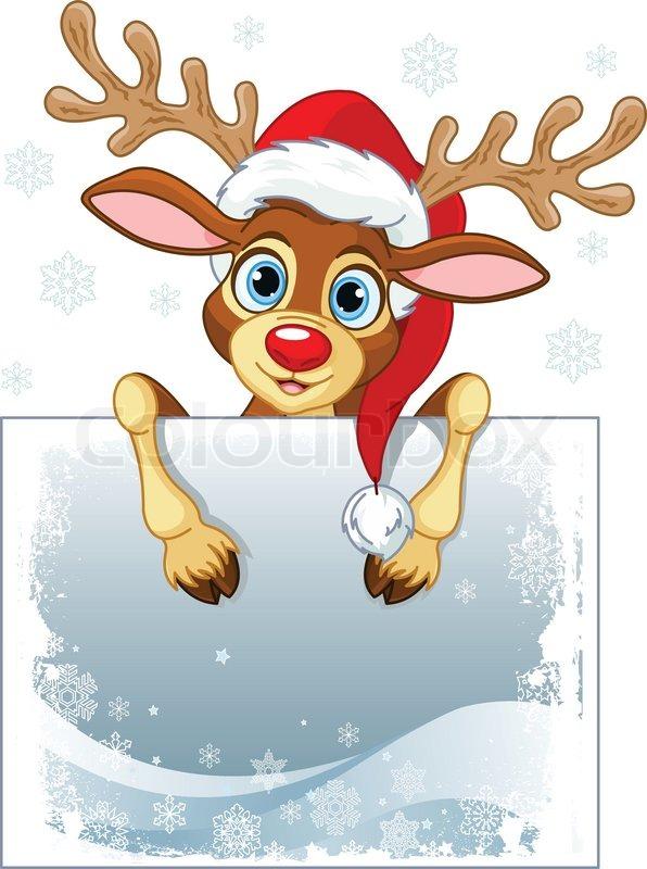 Reindeer Sign Stock Vector Colourbox