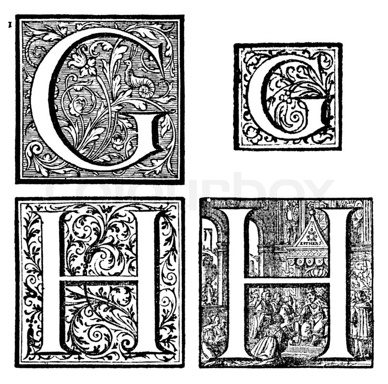 Initialen  Ornamental Capitals  von   Stockfoto
