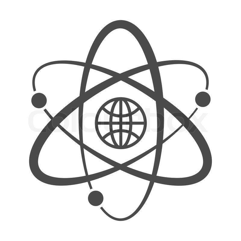 Globe with orbits. Single icon. Vector illustration