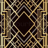 Art deco geometric frame (1920's style) Stock Vector ...