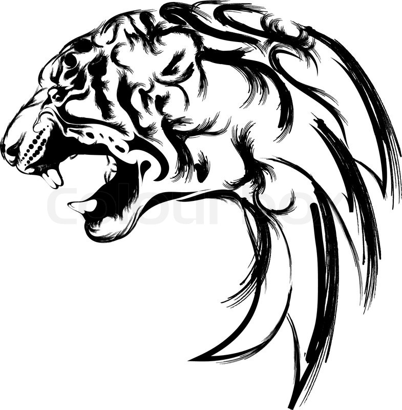 Panther Roaring Clipart