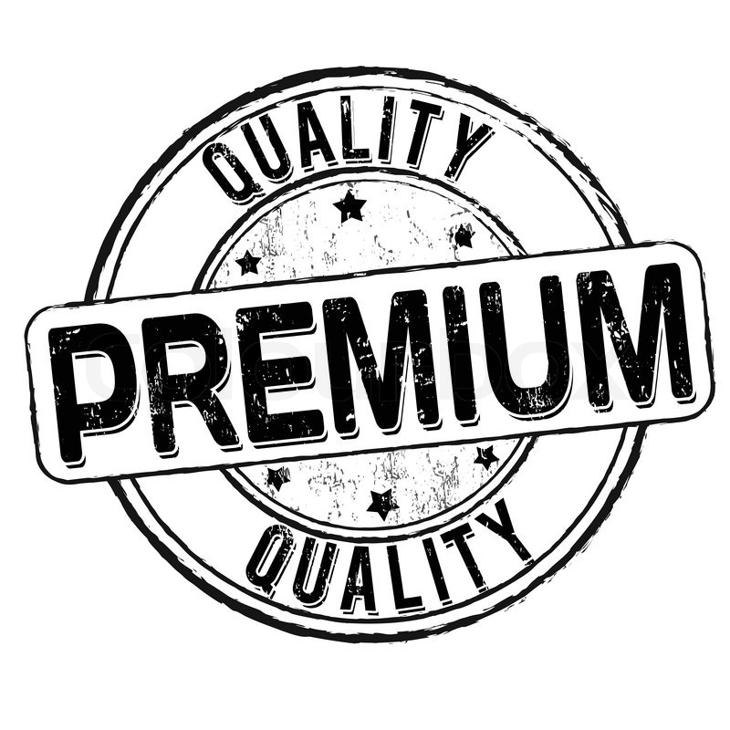 Premium quality grunge rubber stamp on white, vector