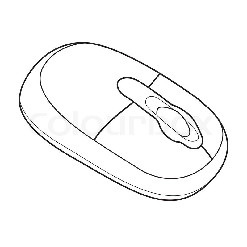Image of Wireless computer mouse isolated on background