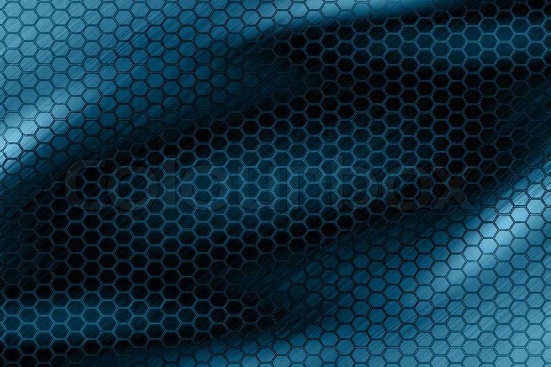 Dark Hexagon Blue Wallpaper Stock Photo Colourbox