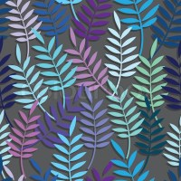 Leaf floral abstract seamless vector background pattern ...