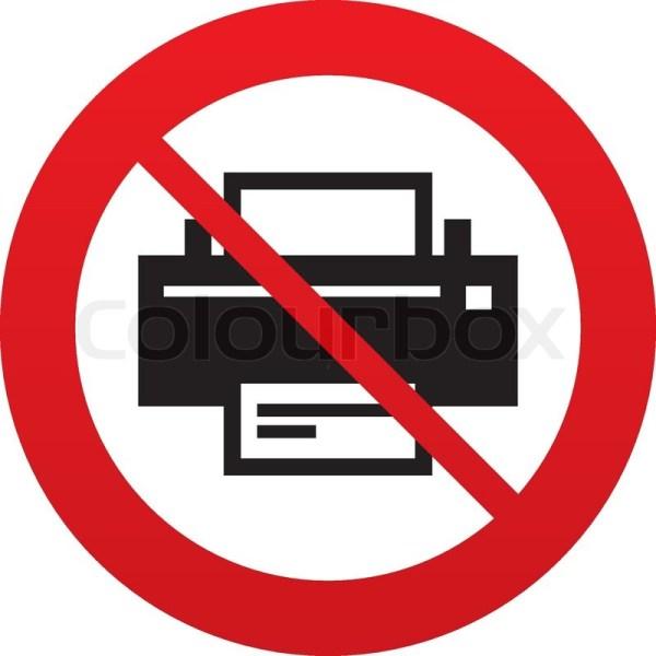 No Print sign icon Printing symbol Print button Red