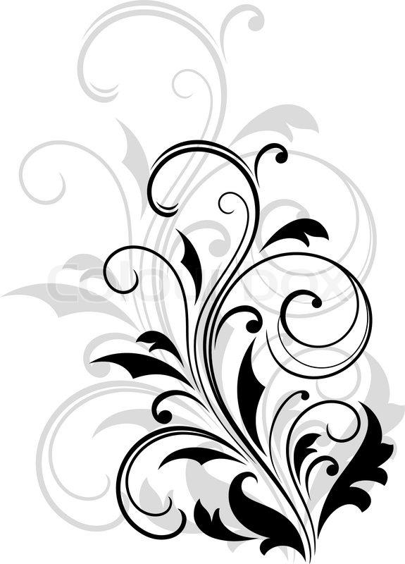 Border And Ornament Black White