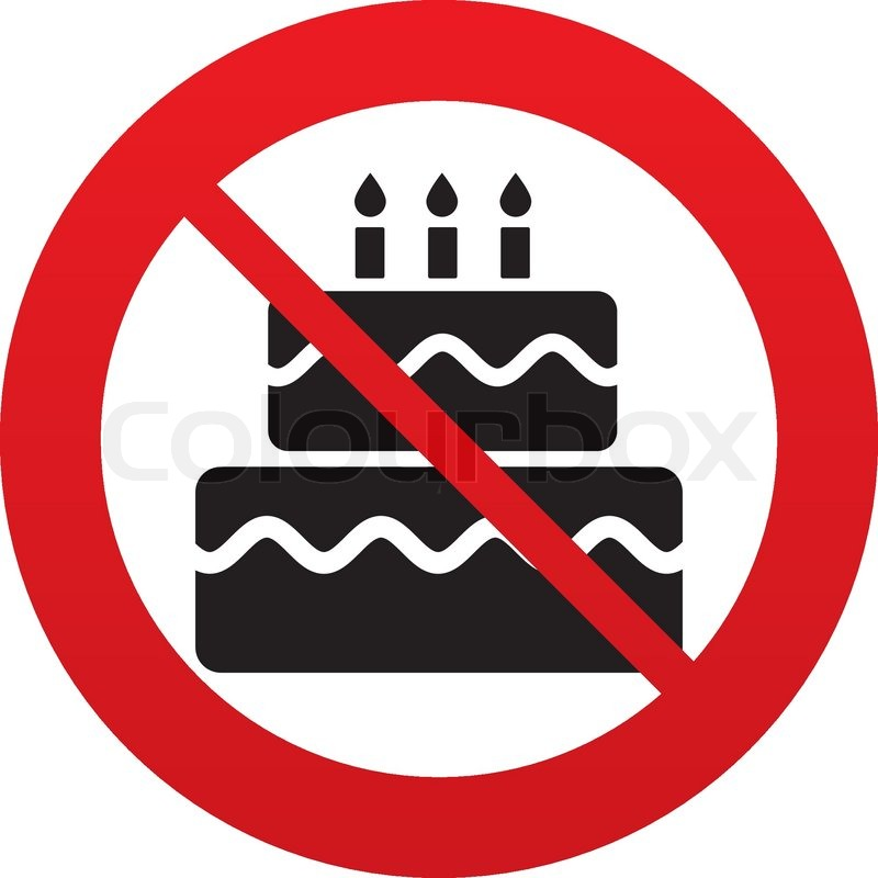 Geburtstag Kuchen Zeichen Symbol   Vektorgrafik