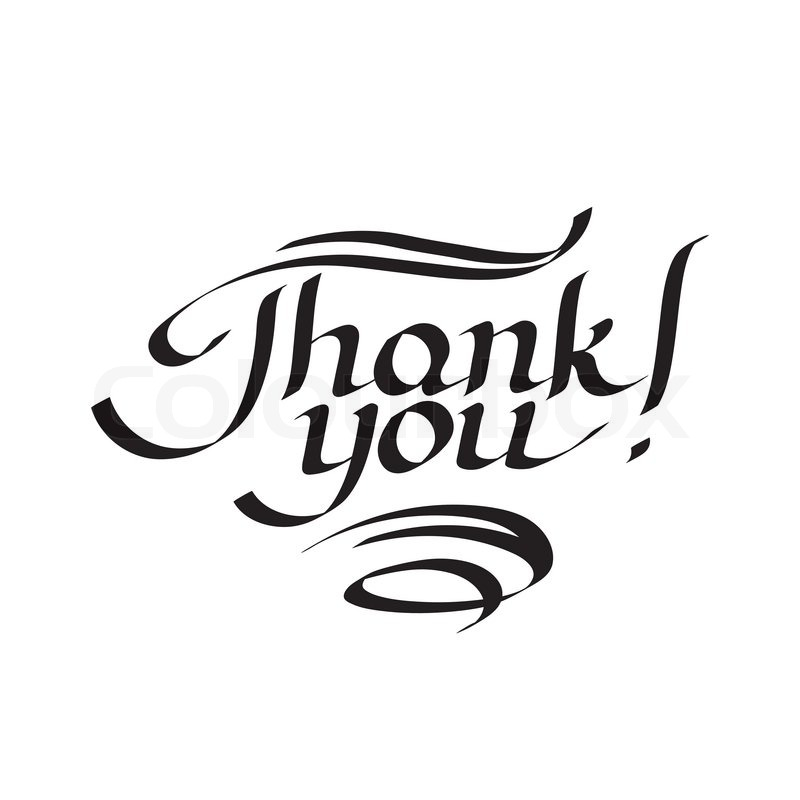 Thank You Hand Drawn Lettering Stock Vector Colourbox