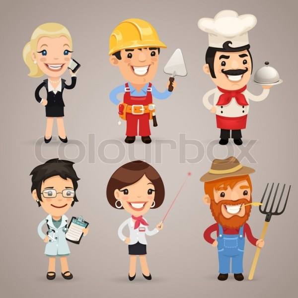 Professions Cartoon Characters Set1.2 In Eps File