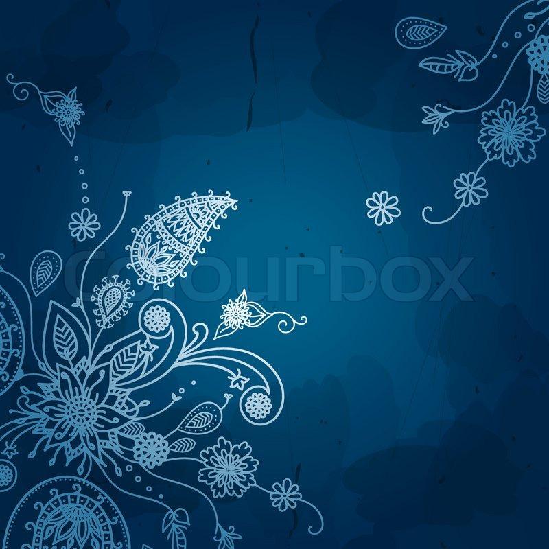 Blume Vektor Hintergrund Floral   Vektorgrafik