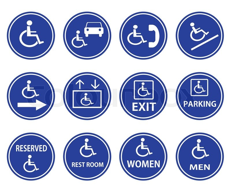 handicap symbol vector