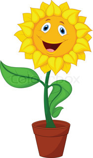smiling flower pot in grows