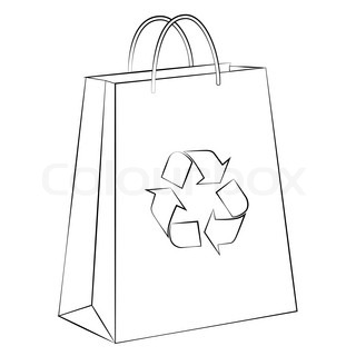 Coloring Pages Of Paper Shopping Bags Coloring Pages