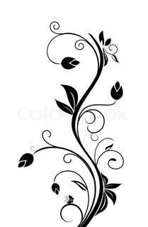 Floral background for design holiday card, vector