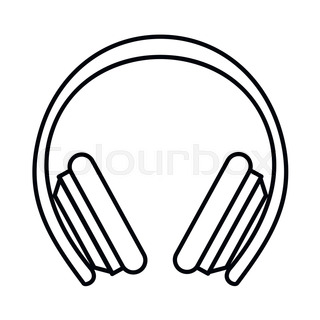 Hearing protection ear muffs. Template design illustration