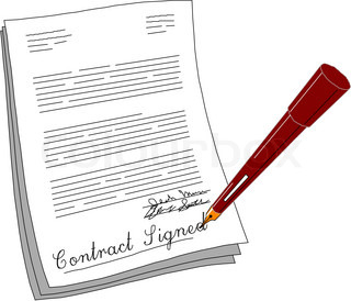 vector of 'contract clipart illustration'