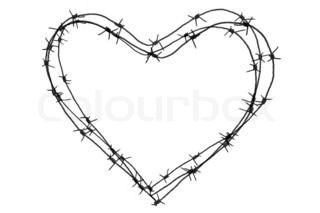 Wire heart love, valentine day series 3d isolated