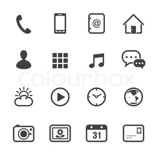 List of Synonyms and Antonyms of the Word: mobile symbols